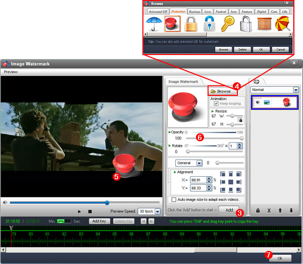 add watermark to video 2 - Aoao Video Watermark 5 Pro ( Kampanya 3 Gün )