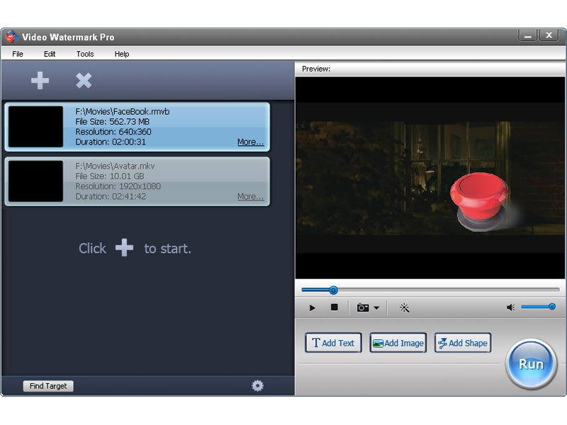 Click to view Video Watermark Pro 5.0 screenshot